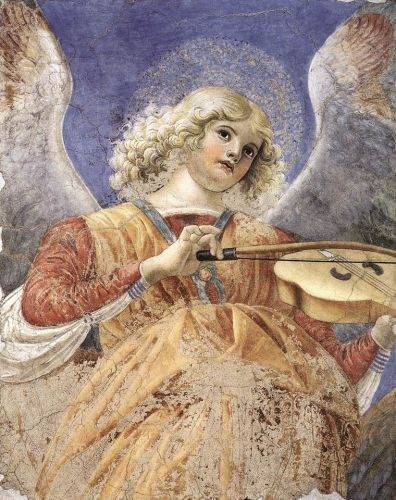 Music-making Angel by Melozzo da Forlì