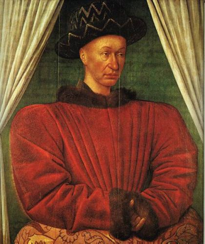 Portrait of Charles VII of France by Jean Fouquet