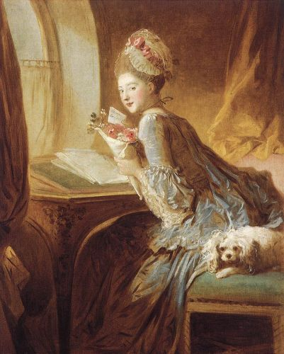 The Love Letter, 1770-1780 by Jean-Honorè Fragonard