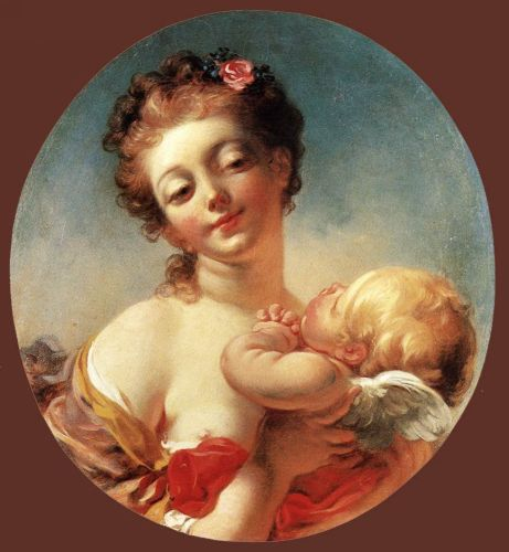 Venus and Cupid, 1760 by Jean-Honorè Fragonard
