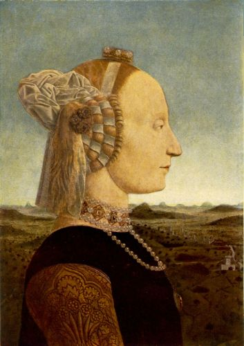 Portrait of Battista Sforza by Piero della Francesca