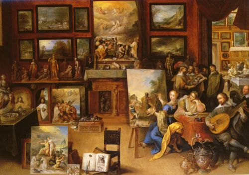 Pictura, Poesis and Musica in a Pronkkamer by Frans II Francken