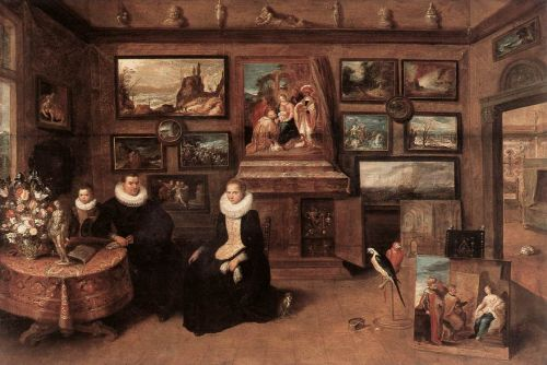 Sebastiaan Leerse in his Gallery by Frans II Francken