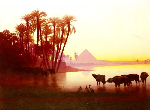 Along The Nile by Charles Theodore Frere