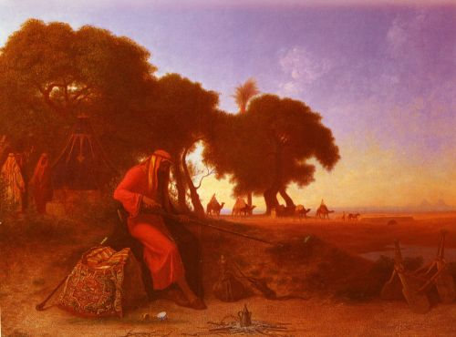 An Arab Encampment by Charles Theodore Frere
