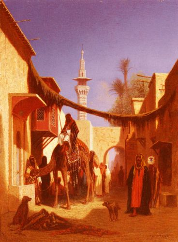 Street In Damascus and Street In Cairo 2 by Charles Theodore Frere