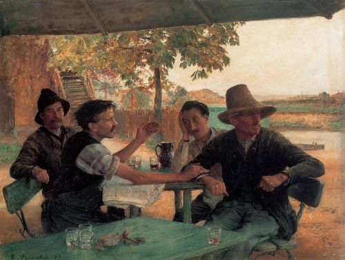 La Discussion politique by Émile Friant