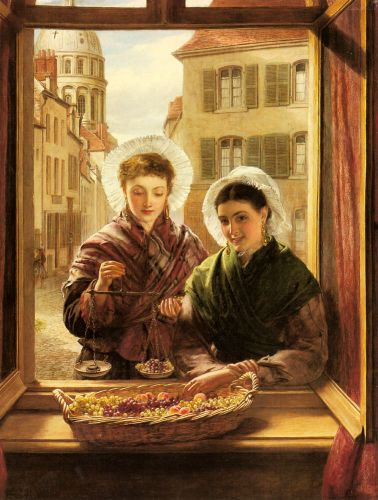 At my Window, Boulogne by William Powell Frith