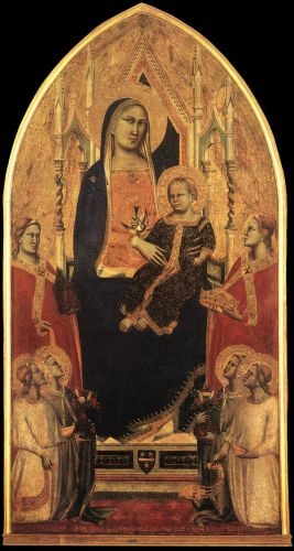 Madonna and Child Enthroned with Angels and Saints by Taddeo Gaddi