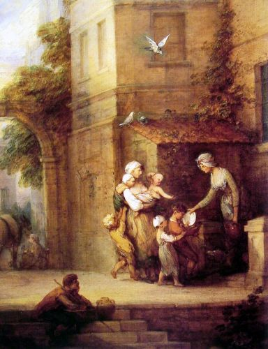 Charity relieving Distress by Thomas Gainsborough