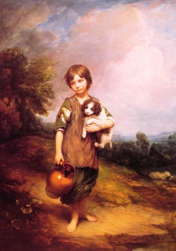 Cottage Girl with Dog and Pitcher by Thomas Gainsborough