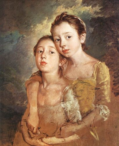 The Artist's Daughters with a Cat by Thomas Gainsborough