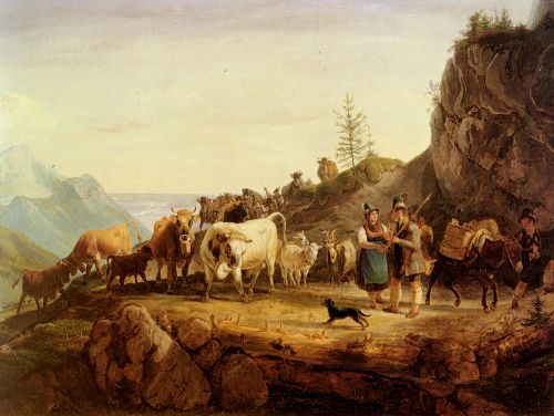 Return From The Mountain Pasture by Friedrich Gauermann