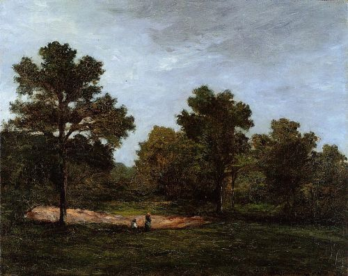 A Clearing, 1873 by Paul Gauguin
