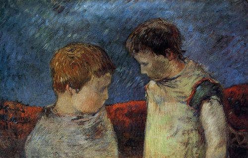 Aline Gauguin and One of Her Brothers, 1883 by Paul Gauguin