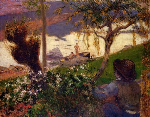 Breton Boy by the Aven River, 1888 by Paul Gauguin