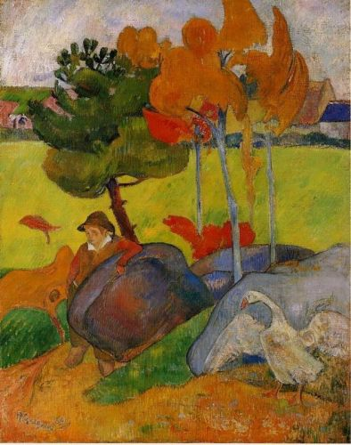 Breton Boy in a Landscape, 1889 by Paul Gauguin