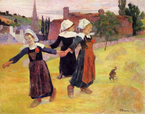 Breton Girls Dancing, 1888 by Paul Gauguin