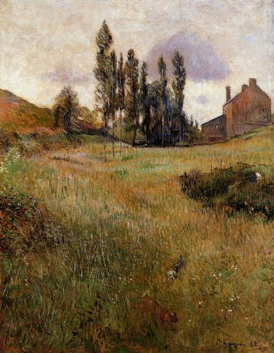 Dogs Running through a Field, 1888 by Paul Gauguin