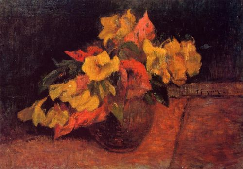Evening Primroses in a Vase, 1885 by Paul Gauguin