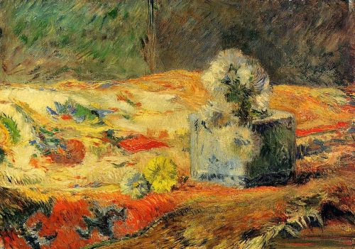 Flowers and Carpet, 1881 by Paul Gauguin