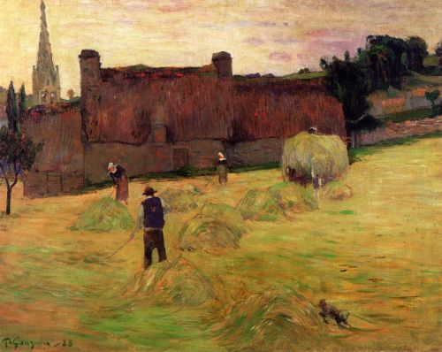Haymaking, 1888 by Paul Gauguin