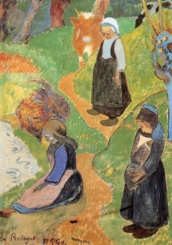 In Brittany, 1889 by Paul Gauguin