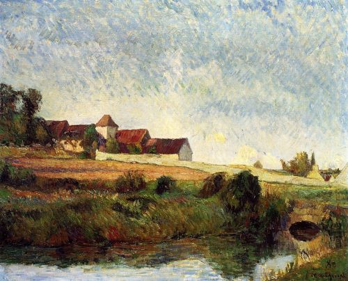 La Groue Farm, Osny, 1883 by Paul Gauguin