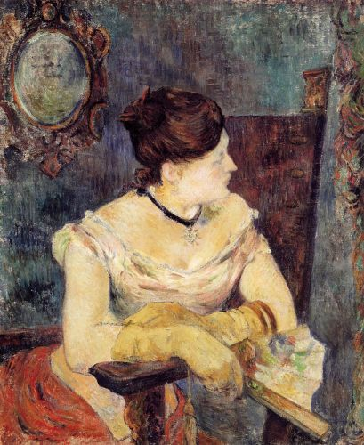 Madame Mette Gauguin in an Evening Dress, 1884 by Paul Gauguin