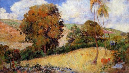 Meadow in Martinique, 1887 by Paul Gauguin