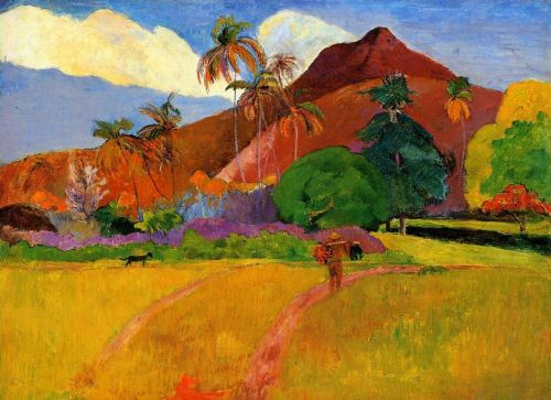 Mountains in Tahiti, 1893 by Paul Gauguin