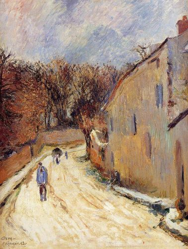Osny, rue de Pontoise, Winter, 1883 by Paul Gauguin
