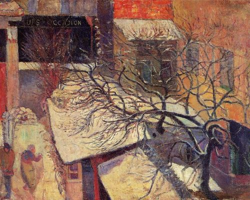 Paris in the Snow, 1894 by Paul Gauguin