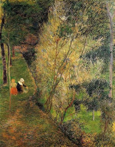 Pont-Aven Woman and Child, 1886 by Paul Gauguin