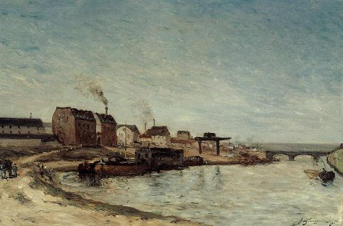 Port de Grenelle, 1875 by Paul Gauguin