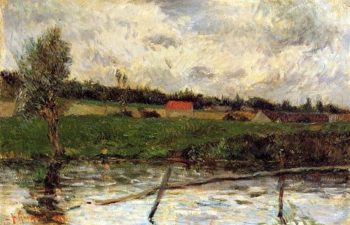 Riverside, 1879 by Paul Gauguin