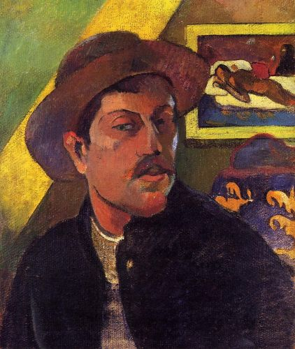 Self Portrait with Hat, 1893-1894 by Paul Gauguin