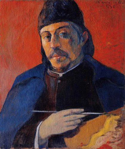 Self Portrait with Palette, 1894 by Paul Gauguin