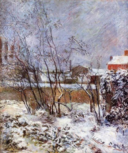 Snow, Rue Carcel, 1883 by Paul Gauguin