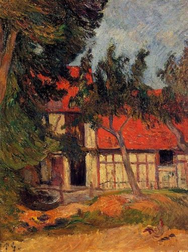 Stable near Dieppe, 1885 by Paul Gauguin