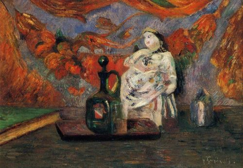 Still Life with Carafe and Ceramic Figure, 1885 by Paul Gauguin