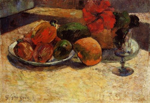 Still Life with Mangoes and Hisbiscus, 1887 by Paul Gauguin