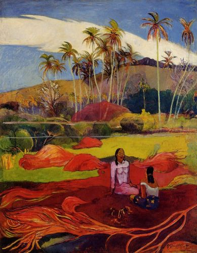 Tahitian Women under the Palms, 1891-1892 by Paul Gauguin