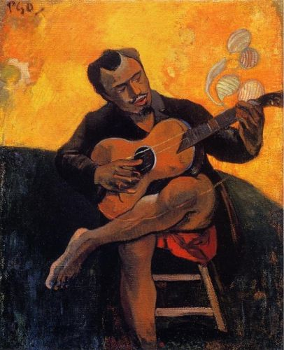 The Guitar Player, 1894 by Paul Gauguin