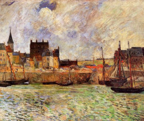 The Port, Dieppe, 1885 by Paul Gauguin