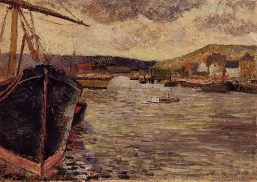 The Port of Rouen, 1884 by Paul Gauguin