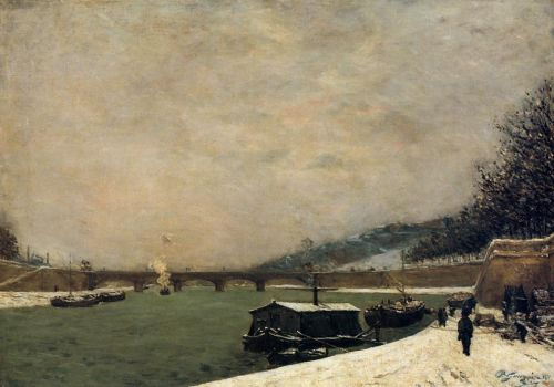 The Seine, Pont d'Iena, 1875 by Paul Gauguin