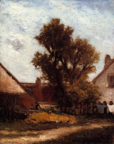 The Tree in the Farm Yard, 1874 by Paul Gauguin