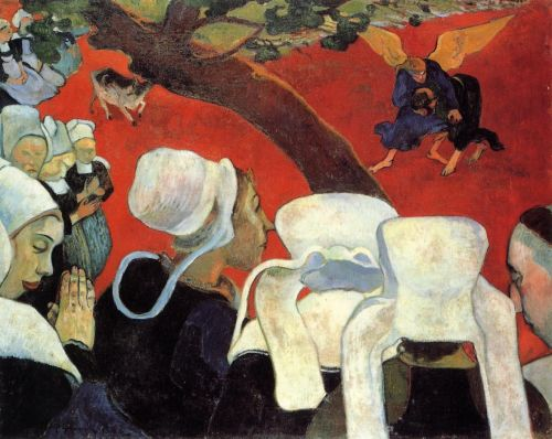 The Vision after the Sermon, 1888 by Paul Gauguin