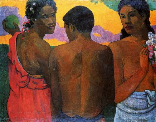 Three Tahitians, 1898 by Paul Gauguin